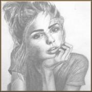 Portrait Peinture Femme Noir Et Blanc Galerie Creation